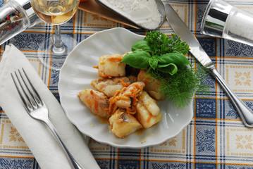 Coda di rospo all arancia - Secondi di pesce - Sicilia