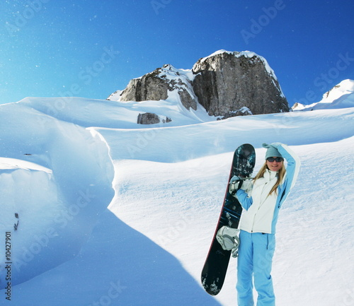 The snowboarder