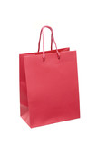 The red package for purchases is isolated poster