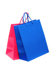 Bags for purchases it is isolated on a white background. poster