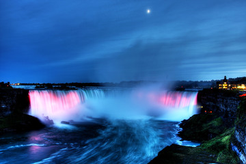 Beautiful Niagara Falls in the Ontario region