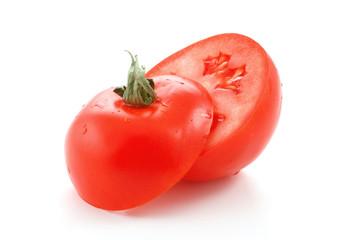Tomato cut on two half.
