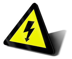cartello pericolo alta tensione