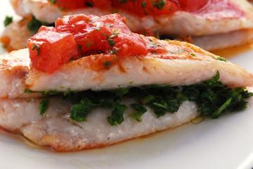 Triglie in rosso - Secondi di pesce - Ricette della Toscana