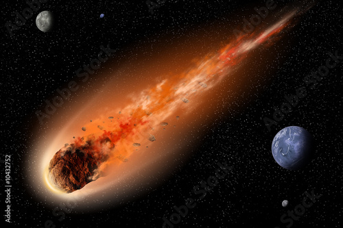 Leinwandbild Motiv asteroid in space