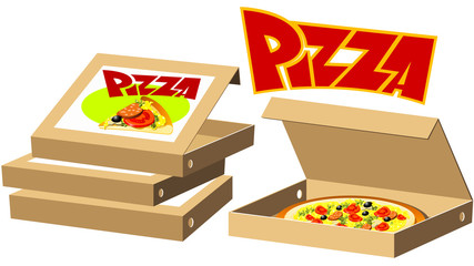 Food series - pizza boxes