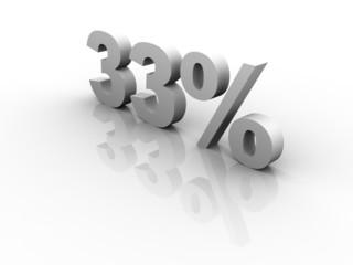 33 Prozent