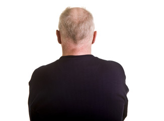 An older balding man from the back