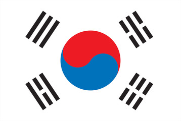 Korea Flag High Resolution