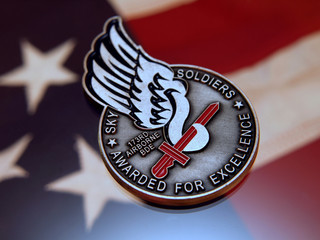 sky soldier excellence award coin