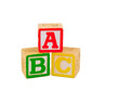 Leinwandbild Motiv ABC Blocks