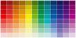 """palette chromatique avec des pastilles texture """"brique"""""""