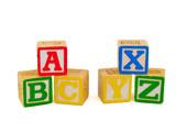 ABC and XYZ Blocks poster