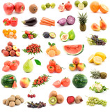 Fototapety fruits and vegetables studio isolated over white