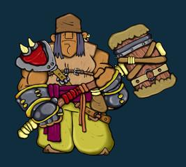 Quiet fantazy troll warrior - Conqueror