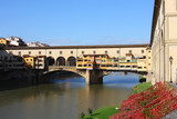 famous old medieval bridge Ponte Vecchio in Florence,Italy poster