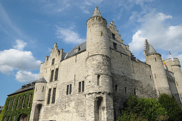 Steen castle in Antwerp, Belgium