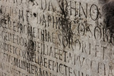 old medieval latin catholic inscription  . poster