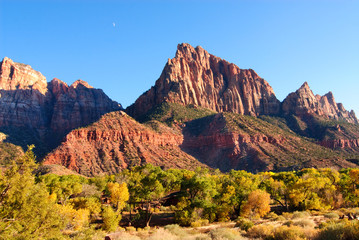 the Watchman at the south entrance of Zion National Park