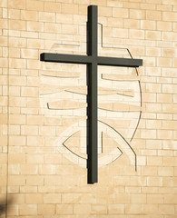 cross on methodist church warwick uk