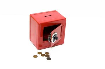 Red combination savings bank
