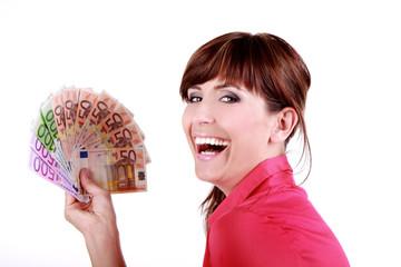 Frau Gewinnerin Geld