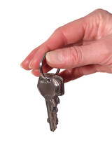 Hand mit Schlüsselbund