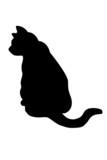 silueta gato 1 poster