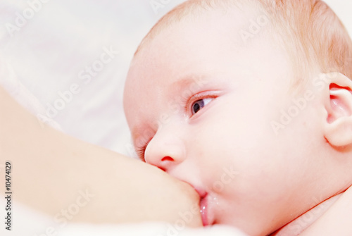 newborn baby breastfeeding