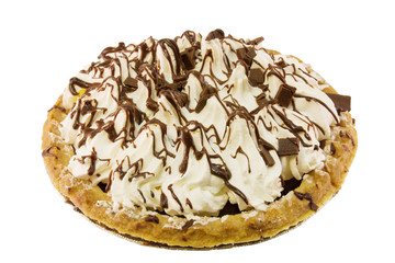 chocolate cream pie isolated on white