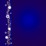 Postal azul de Navidad con estrellas blancas poster