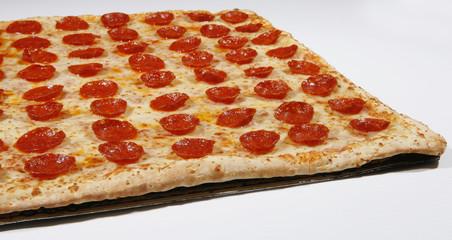 squre pepperoni pizza