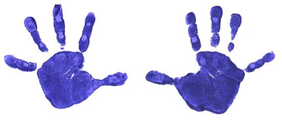 Empreintes de mains d'enfant