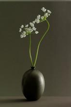 Ikebana mały kwiat w wazonie