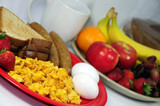 Shallow - Healthy breakfast served with an assortment of choices