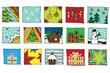 15 weihnachtliche Icons im Vektorformat