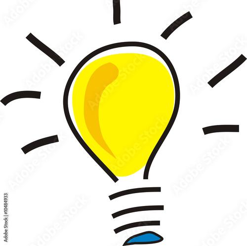 Leinwanddruck Bild Glühlampe 10204