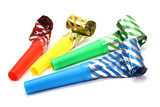 Party Blowers, photo on the white background - 10485751