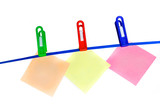 colorful announcements over white background poster
