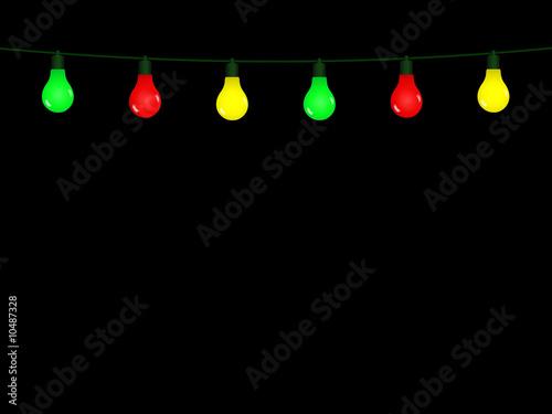 guirlande lumineuse color e sur fond noir de regormark photo libre de droits 10487328 sur. Black Bedroom Furniture Sets. Home Design Ideas