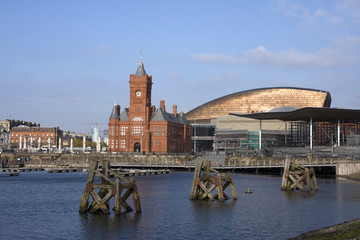 Views around Cardiff Bay and the historic buildings