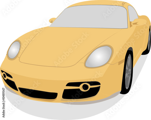 modern car illustration