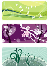 spring backgrounds set