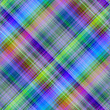 Multicolored diagonal grid pattern background.
