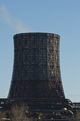 Power station chimney