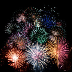 coloured fireworks