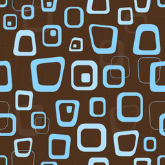 Seamless retro brown and blue background pattern