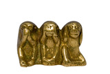 figurine monkeys speak no evil,see no evil,hear no evil concept poster
