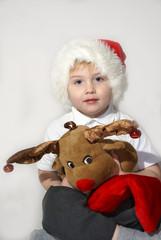 santa n reindeer