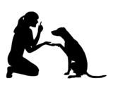 Hundetraining (Obedience), Befehl Pfote! poster